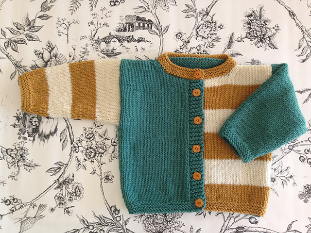 First Baby Sweater...Gingersnap